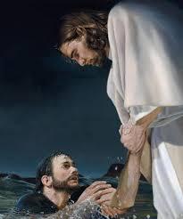 Jesus saving man